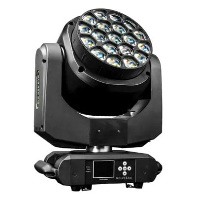 19pc15w 4in1 moving head big bee eye stage apparatuur wash light